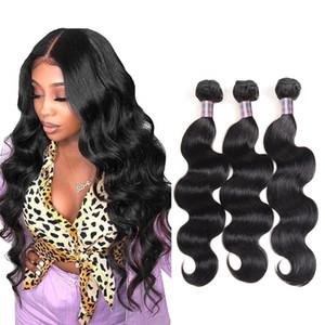 IShow corps brésilien Human Wave Hair Extensions gros cheveux Weave Pérou non transformés Bundles naturels Vague Vrigin humaine Bundles cheveux