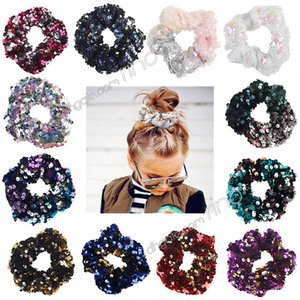 Mermaid sequin hair accessories for girls kids fashion hairbands hair ties baby Hairbands Hair ring Accessories 12colors