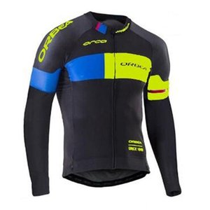 Mens Breathable Cycling Jersey ORBEA Team Long Sleeve Bike Shirt MTB Bicycle clothes outdoor sports uniform Y20091902