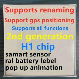 H1 fones chip GPS Rename Air Ap3 pro Ap2 Tws Gen 2 Pods janela pop-up Bluetooth Auscultadores wireles auto paring carregamento Earbuds de casos novos