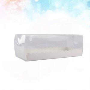 5PCS rolo suíço caixas de embalagem Retângulo baking bolo caixas Limpar Longo Sobremesa para padaria