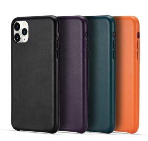 DHL 30pcs Cuoio di alta classe solido Prova di colore Shock di caso per Iphone SE2020 11Pro MAX Samsung S20 Huawei P40 coperchio superiore