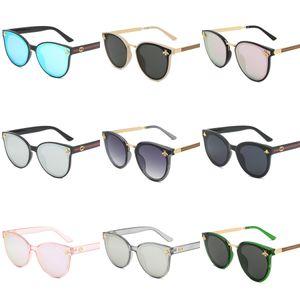 Toptan-SHAUNA 7 Renk Moda Alaşım Menteşe Erkekler Kare Güneş Vintage Kadınlar Gradyan Şeffaf Lens UV400 # 540
