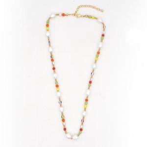 GO2BOHO Donne Choker Seed Collane di perline perla perline africane collana 2020 dell'acciaio inossidabile di modo Boho Gioielli