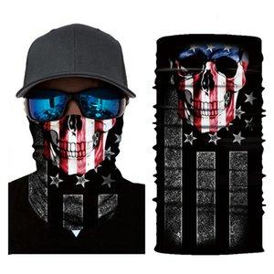 crâne bannière américaine étoile magique multi-fonctionnelle Sport Scarf
