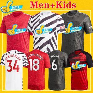 Манчестер мужчина 2021 Fernandes УТД United VAN DE BEEK ГРИНВУД RASHFORD футбол Джерси БОЕВЫХ футбол рубашка 20 21 Kids Комплект униформы