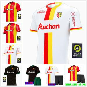 RC Lens Futbol Forması uzak gömlek En kaliteli 2021 RC Lens Erkek Tasarımcı gömlek Sotoca S.Banza Robail Jean futbol Gömlek Jersey Tops