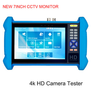 7 inch H.265 4K CCTV Tester monitor Analog camera tester support Built-in wifi TDR RJ45 cable test IP Camera