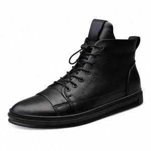 Youki homme Bottes d'hiver en peluche laine fourrure Homme Botte en cuir véritable Chaussures Hommes Big Taille 9Yds #