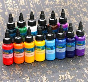 1/4/7/14 Bottiglia 1 oncia Tattoo Ink Tattoo set Body Art inchiostri 30ml nero trucco permanente Colori del pigmento del tatuaggio Accessori (Colore: nero)
