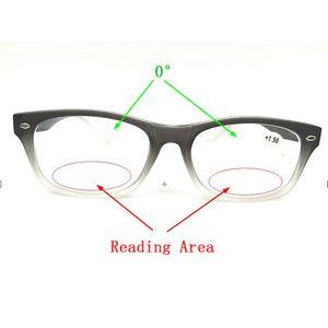 Bifocal Reading Glasses Men Women Double Light Gradient Black Rivets Frame Diopter Eyeglasses +1.0 1.5 2.0 2.5 3.0 3.5 4.0 L2