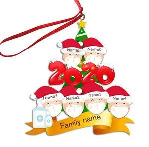 2/3/4/5/6 Noel Süs INS Kişiselleştirilmiş Karantina Noel ağacı pendents Noel Partisi Dekorasyon En Hediyeleri F91601 Aile Yüz Maskesi