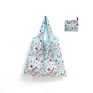 46*40cm Large thick magic style nylon environmentally friendly reusable polyester handbag folding shopping bag Free Shipping