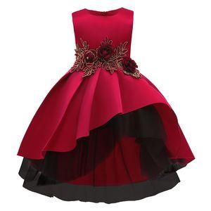 {Sweet Baby} Flower Princess Dresses Toddler Girls Summer Halloween Party Girl Red Dress Kids Dresses for Girls Clothes Wedding