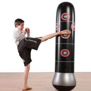 Boxing Boxsack Aufblasbare Tumbler Muay Thai Training Druck Übung Relief Bounce Back Sandbag Luftpumpe Fitness-Tool