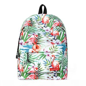 New Arrival Tropical Style Backpack Women Fashion Travel Backpack Cute Flamingo Printed Backpack School Bags for Teenagers BB142
