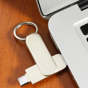 범용 금속 타입 C USB 3.0 U 디스크 플래시 드라이브 쉽게 개선 공간 1백28기가바이트