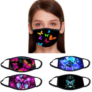 Designer Masks Butterfly Stampa Cotton Face Mask Sport Outdoor Sport Isolation Moda Street Bocca Cover Casual Bandana per le donne GWC2219