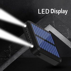 2020 NEW Solartaschenlampe als 10000MAH Mini-Solar-Lade Energien-Bank-bewegliche externe Batterie Schatz Schnell Poverbank Lade
