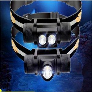 D10   D25 Mini Head Lamp XML LED Headlight White Light Headlamp USB Rechargeable 18650 Head Light For Hunting Fishing Camping