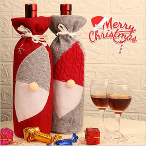 Tampas de garrafa de vinho de Natal Garrafa presentes Capa de Santa Faceless Gnome Natal saco do partido Decoração de Natal Garrafas decor LSK1175
