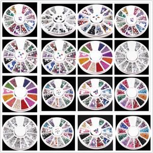 1PCS / SELL 12 couleurs ongles strass 2mm acrylique nail art strass décoration pour UV Gel Téléphone portable Outils de bricolage s #