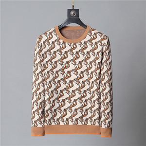 2021 nuovi mens maglioni Fashion style Pullover Maglione a maniche lunghe sciolto Uomini Felpa lettere ricamo Maglieria Inverno Abbigliamento Uomo