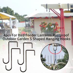 4 pezzi per Bird Feeder lanterne Rustproof esterna giardino in forma di s Hanging Hooks
