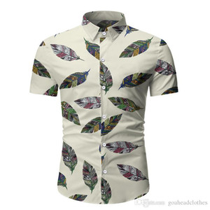 Fashion Male Floral Printed Polos Casual Single Breasted Mens Tees Lepal Neck Designer Male Clothing Slim
