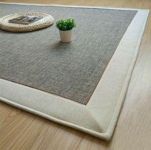 Modern Japanese Tatami Mats Linen Cotton Carpet Thicken Children Kids Playmat Living Room Crawl Mat Large Window Bed Area Rug
