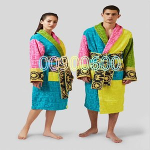 2020 Fashion New Cotton Couple Pajamas High Quality Jacquard Men's Long Sleeve Pajamas Ladies Pajamas