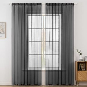 Door Kitchen Soft Tulle Curtains Window Sheer Curtains for Bedroom Living Room Cortinas Salon Modern Home Decoration Customize