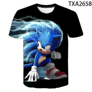 Mario Super Sonic Druck Kleider 3D 2020 Sommer-Junge-Mädchen-Spaß-T-Shirt Kinder Kostüme Kleidung Sonic the Hedgehog Kinder-T-Shirts