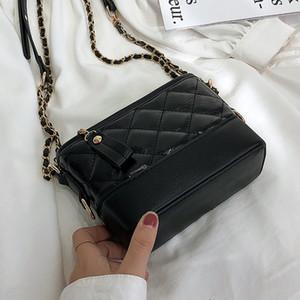 Luxurys Tasarımcılar Çanta Yüksek Sense Batı Tarzı Bayan Çanta 2020 Yeni Stil Moda All-maç Messenger Bag Rhombus Dokulu Tek Omuz Hobo