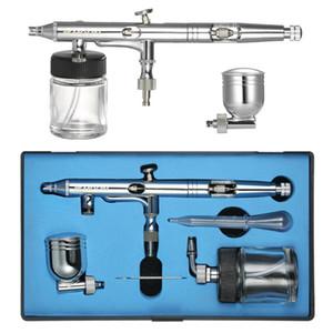 Dual-Action Airbrush compressor Kit sandblaster Mini Spray Gun Air Control Air-Brush + Eyedropper 0.25mm 7cc & 22cc for art