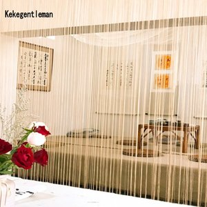 Decorative 3x2.6m string curtain line curtain room divider home decoration window valance