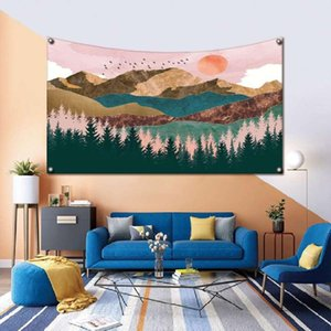 Japan Kanagawa wave print tapestry large art tapestry wall hanging beach towel polyester fiber thin blanket yoga