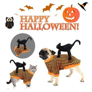 Uniforme Pet Dia de Natal Dia das Bruxas engraçado da queda do inverno do cão Hoodie Roupa Cat Pet Shop queda roupas de inverno abóbora Two-legge