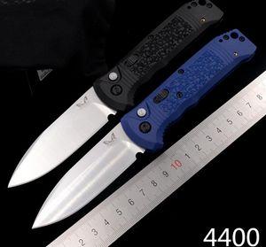"""Benchmade 4400 Касба AUTO Складной нож 3,4"""" сатин S30V каплепадения лезвие, черный / синий текстурированные Grivory Ручки BM4400 Автоматический нож EDC"""