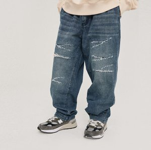 Autumn Hip Hop Jeans soltos Hetero quadril de homens Buraco Hop Jeans Baggy Trousers Mens Casual Men Masculino Bottoms XXL