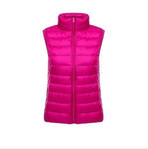Mujeres abajo conceden diseñador sin mangas casual de invierno capas de la chaqueta Slim Fit Abrigos Moda caliente Ropa para Mujer