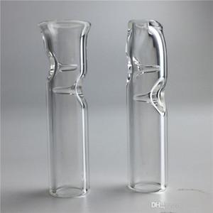 Puntas de filtro de cigarrillo mini de vidrio Boca redonda para la hierba seca Papeles de rodadura de tabaco con soporte de cigarrillo Pyrex Glass Fumar Tubos de fumar