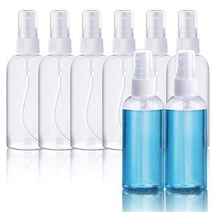 El plástico claro botellas del aerosol 60ml 2 oz recargable fina niebla pulverizador de botella de maquillaje cosmético atomizadores reutilizable contenedores vacíos HHD1563