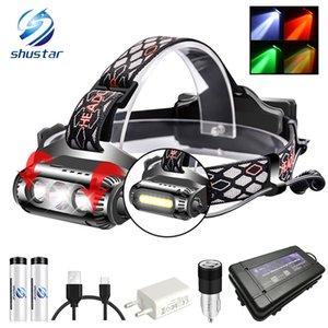 USB Rechargeable LED Headlamp Rotatable lamp holder 8 Light Mode LED COB Super Bright Headlights Waterproof