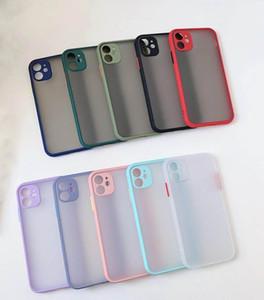 Кожа Scrub Прозрачного телефон Чехлы для iPhone 11 Pro Макс XR XS Max Case тяжесть анти-падение ударопрочной задней крышки для HUAWEI P40 про Mate30
