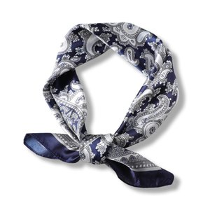 Lady Square Silk Print Scarf Girls Hair Tie Band 60*60Cm Decorative Neckerchief Women Elegant Handkerchief Headscarf Scarves