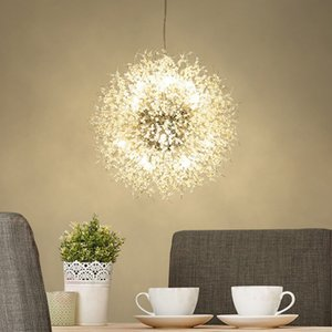 Dandelion Chandelier Crystal Chandelier Lighting LED Hanging Round European pendant light Crystal Beads lights for Dining Room Living Room