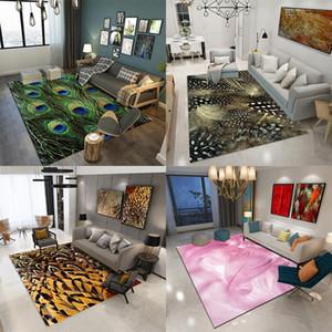 VESCOVO 3D-Druck Sofa Bereich Teppich Schlafzimmer Haus dekorativen Bodenteppich Matte Anti Slip Big Teppich für Wohnzimmer