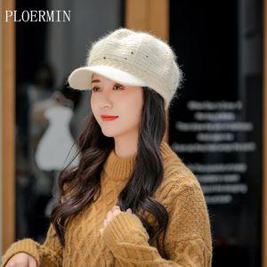 Yeni Kadın Beyzbol şapkası Moda Yün Örgü Pullarda Sıcak Ve Daha kalın Örme Cap All-maç sonbahar ve kış aylarında güneş şapkası beret