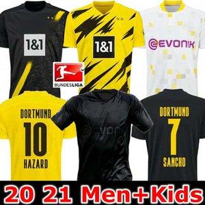 HOMEM + CRIANÇAS 19 20 21 Dortmund Borussia REUS Guerreiro camisas de futebol 2019 camisa desporto 2020 escurecimento SANCHO hummels Haaland BRANDT 2020